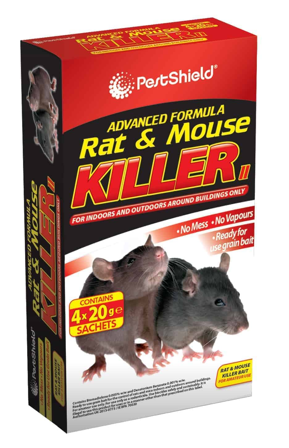 PestShield Rat/Mouse Killer-4 X 20G