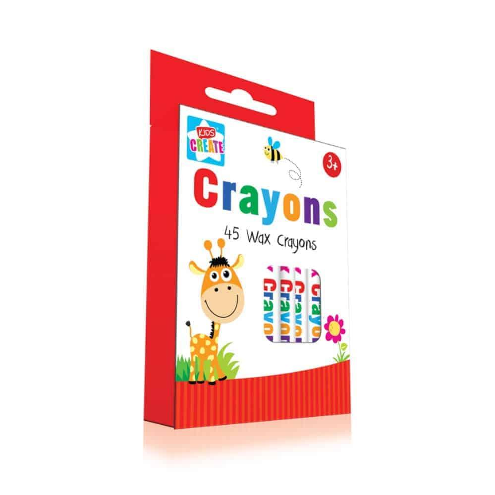 45Pc Wax Crayons