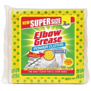 3Pk Elbow Grease Supersize Cloths