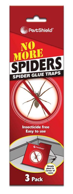 PestShield 3Pk Spider Trap Glue Boards