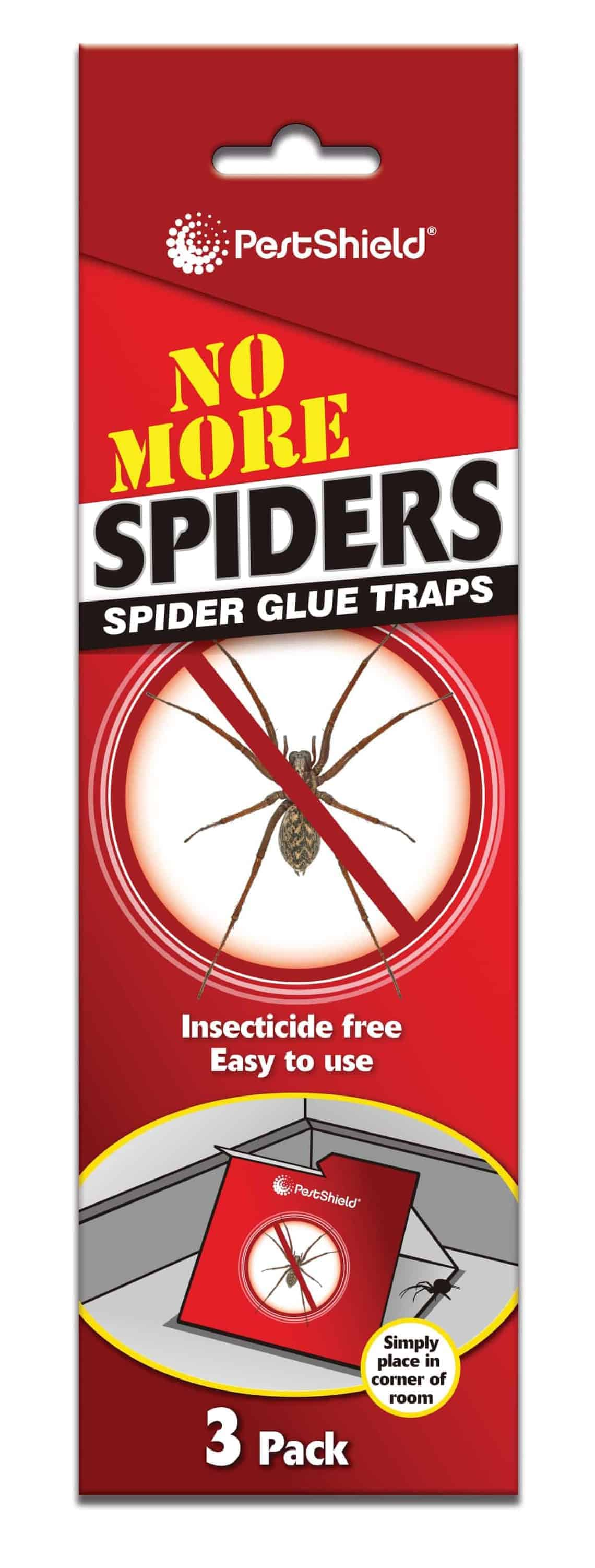 PestShield 3Pk Spider Trap Glue Boards
