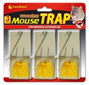 PestShield Mousetraps-3Pc-Wood