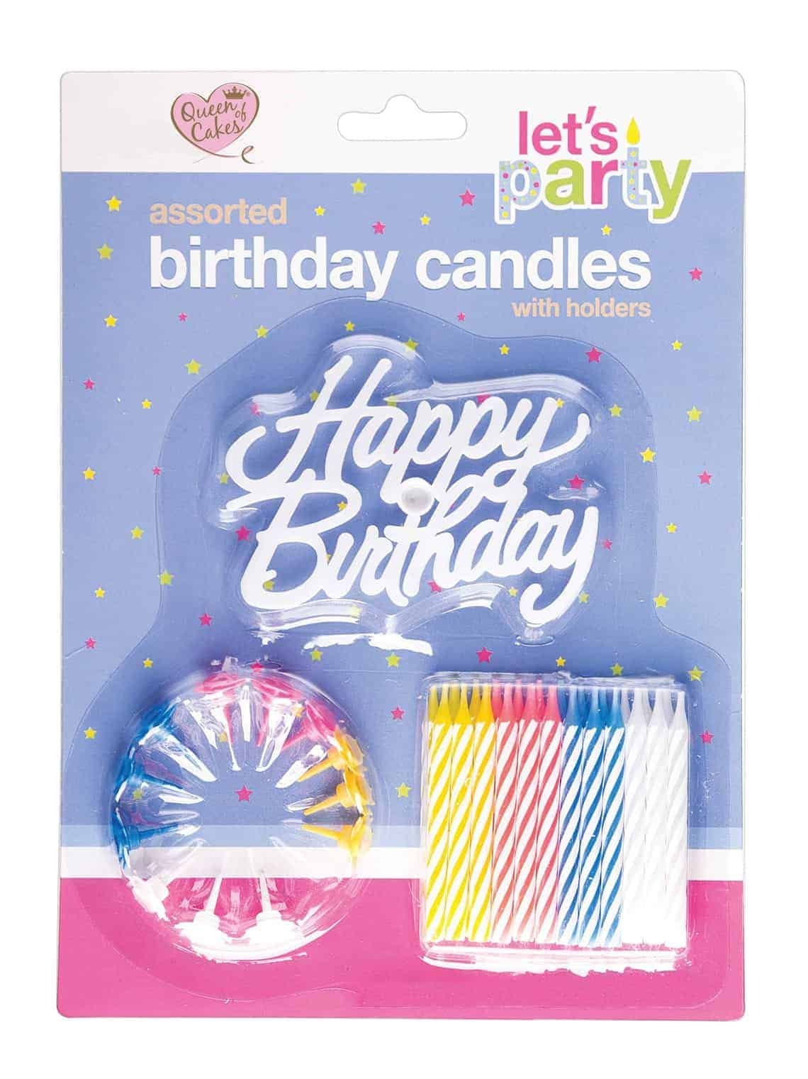 Queen Of Cakes Birthday Candles with Holders