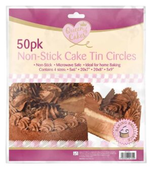 Queen Of Cakes 50pk Non-Stick Cake Tin Circles
