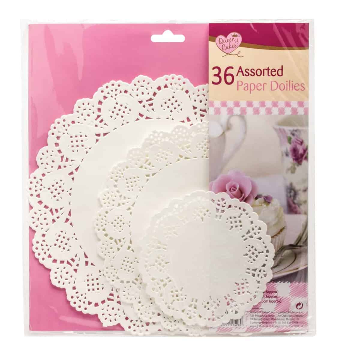 Queen Of Cakes 36 Assorted Paper Doilies