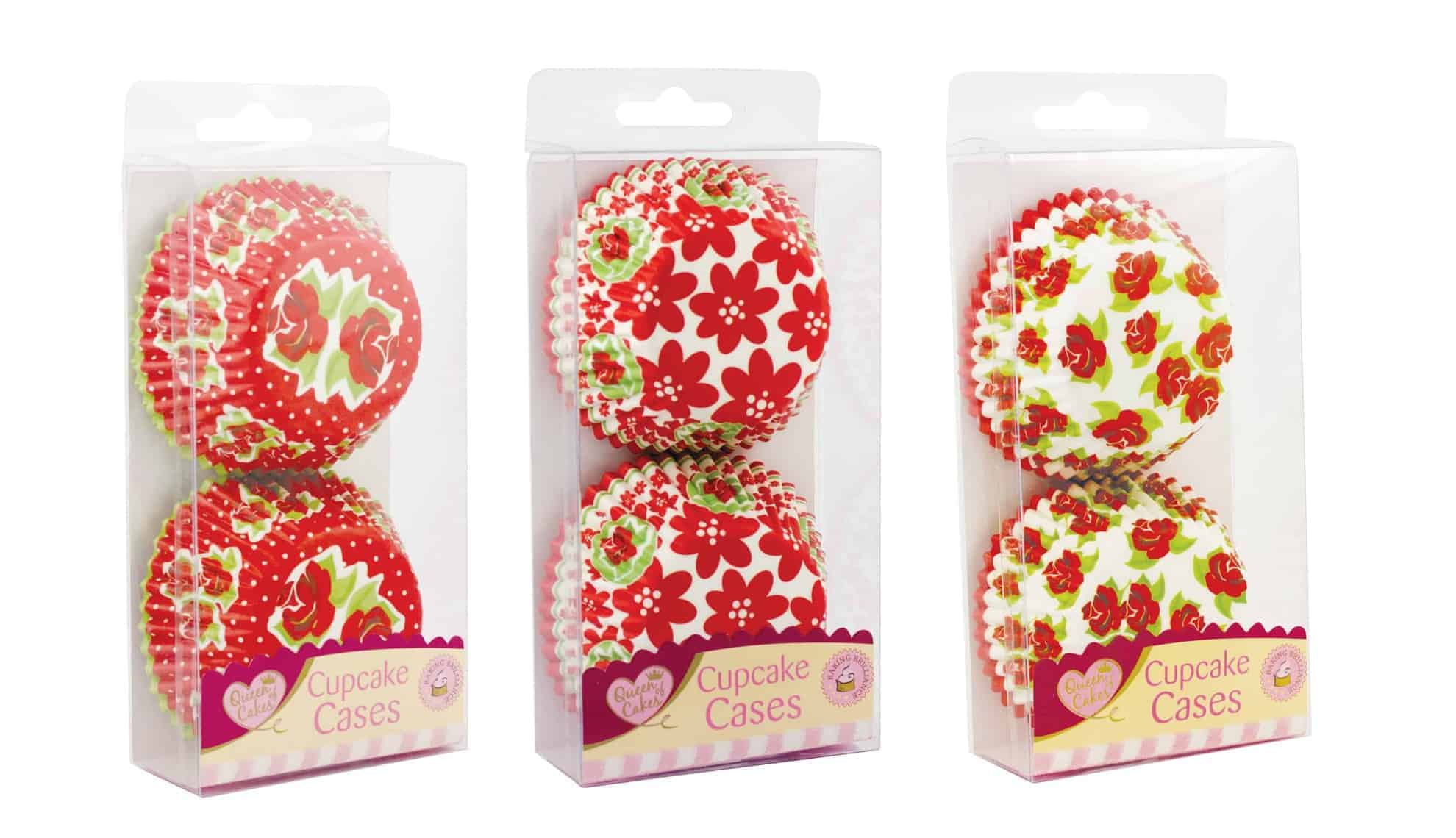 Queen Of Cakes 60pk Assorted Cup Cake Cases