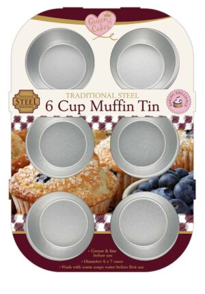 Queen Of Cakes 6 Cup Muffin Tin
