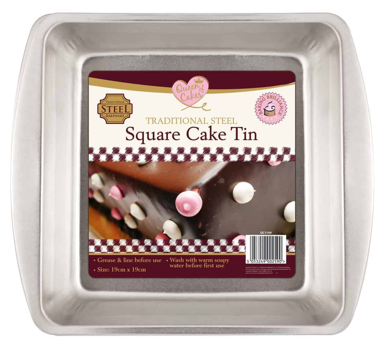 Queen Of Cakes Cake Tin-Square
