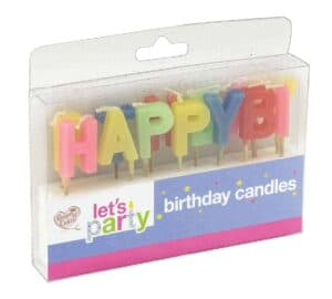 Queen Of Cakes Happy Birthday Candles Set