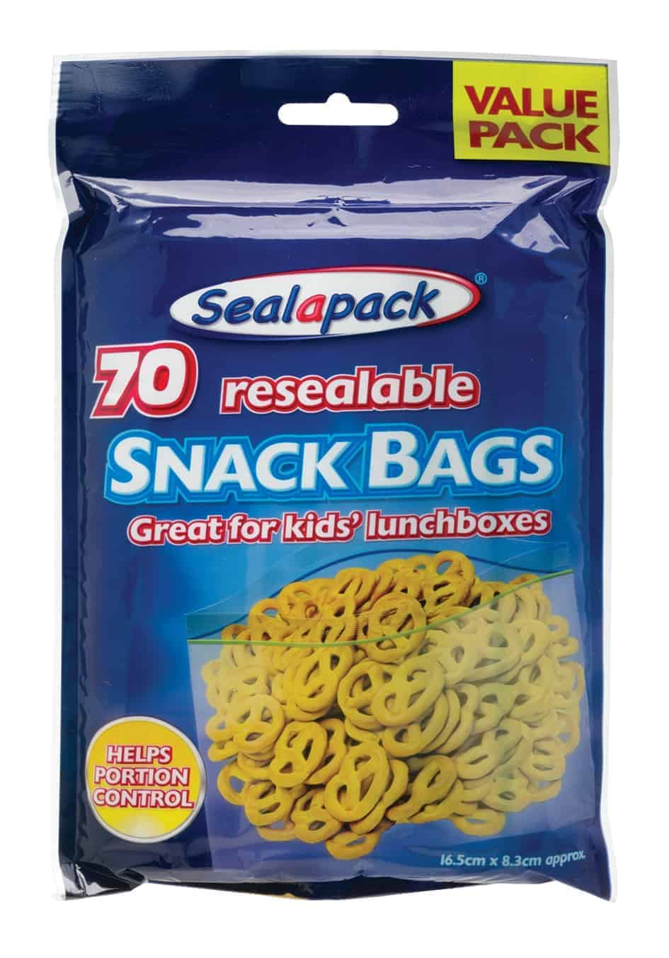 SealaPack Reusable Snack Bags-70Pk