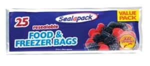 SealaPack Reusable Food/Freezer Bags-25Pk