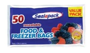 SealaPack Reusable Food/Freezer Bags-50 Pk