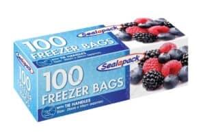 SealaPack 100 Lge Freezer Bags W Tie Han
