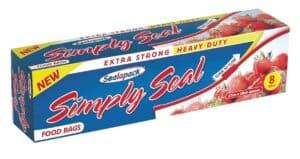SealaPack 10pk Simply Seal Food Bags
