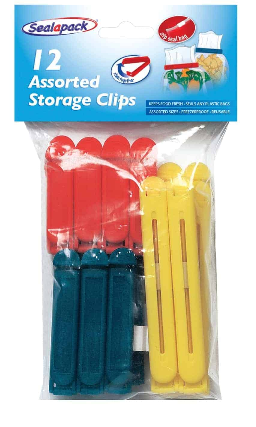 SealaPack 12Pc Coloured Bag Clips