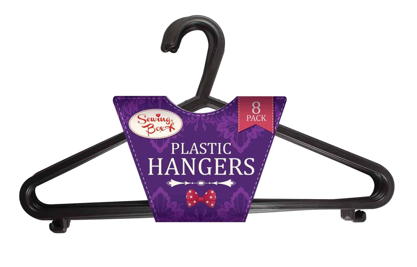 Sewing Box 8pk Plastic Hangers