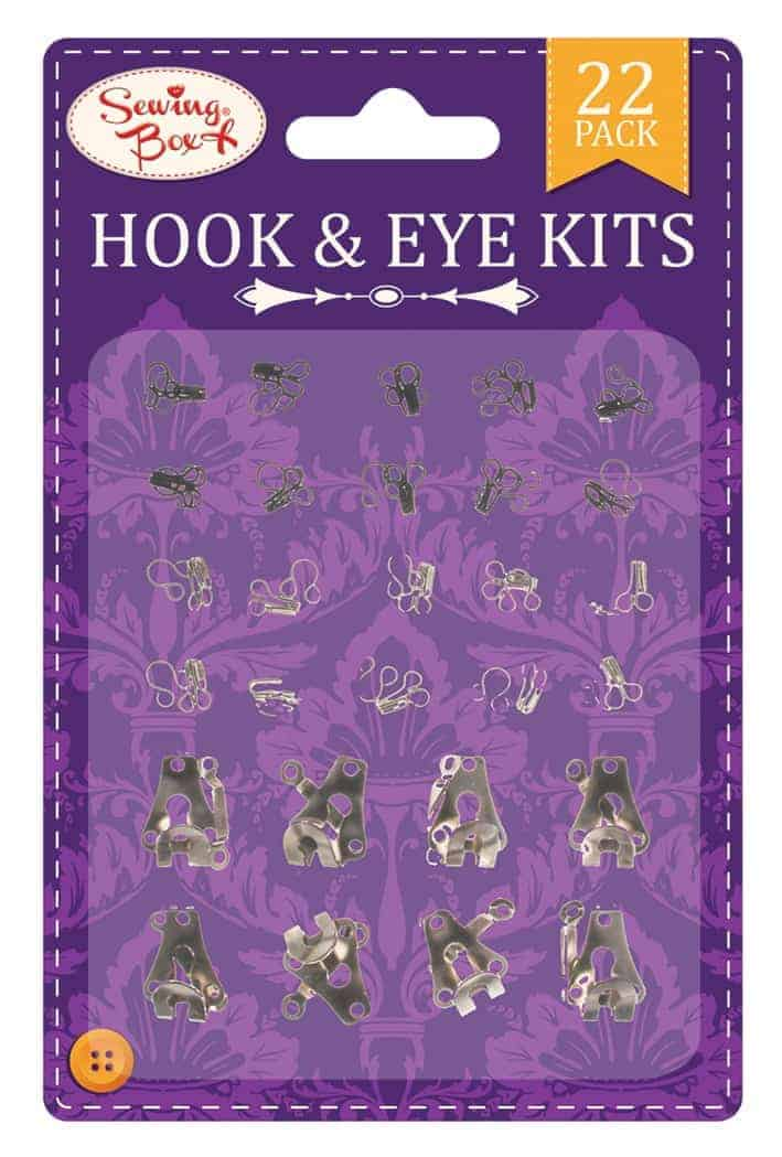 Sewing Box Hooks+Eyes  22Pk