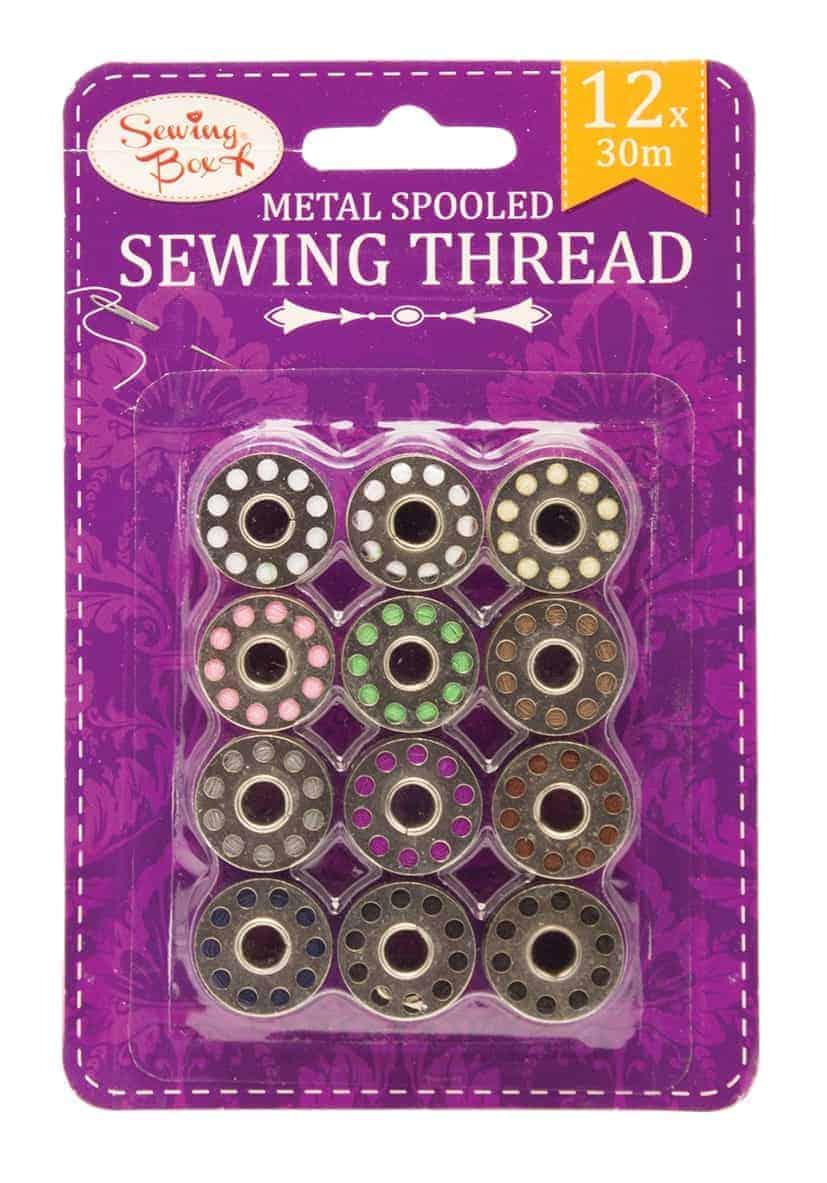 Sewing Box 12Pk Metal Sewing Thread