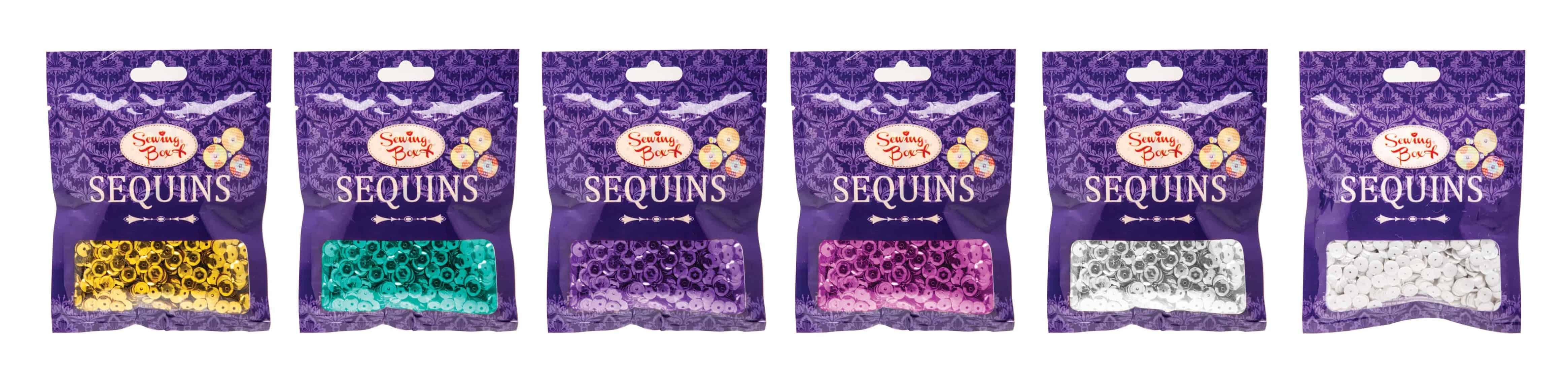 Sewing Box Sequins-36Gm-Asst