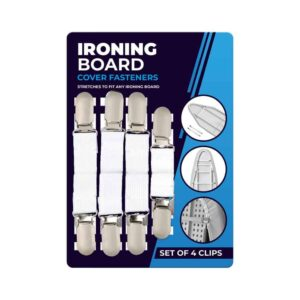 Set Of 4 Iron Board Clips