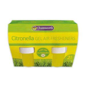 Chatsworth Citronella 2 Pack Gel Fresheners