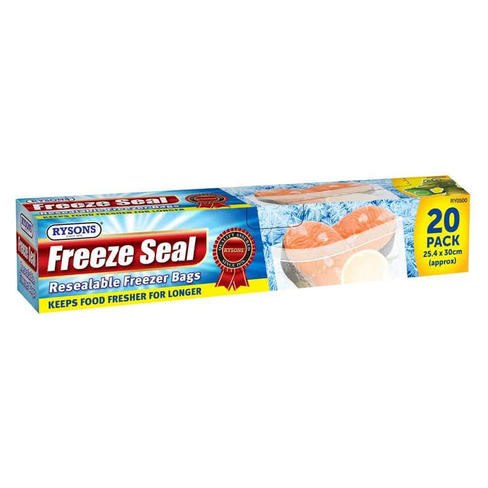 20 Zipper Freezer Bags