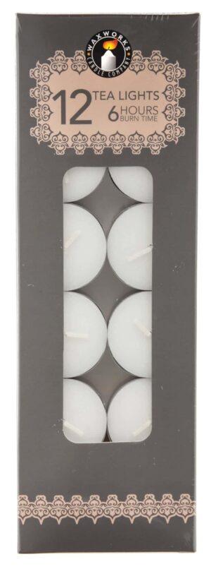 Pan Aroma 12 Pack White Tea-Lights Candles