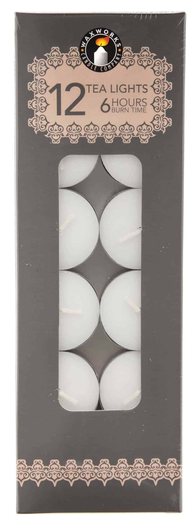Pan Aroma 12 Pack White Tea-Lights Candles