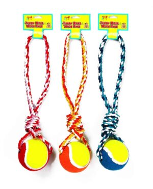 Pets At Play Jumbo Pet Ball With Rope