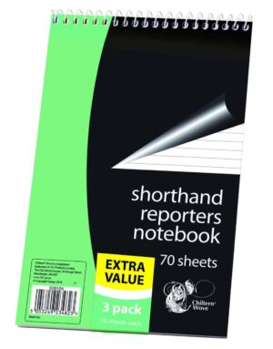 Chiltern Wove 3pk 80 Sheet Reporters Note Book