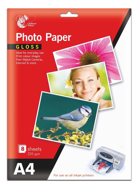Chiltern Wove  8pk A4 Gloss Photo Paper