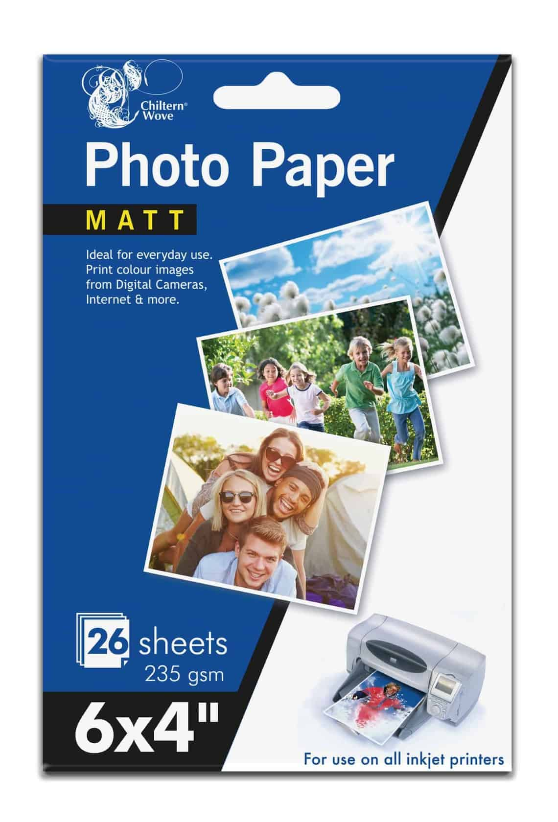 Chiltern Wove 6X4 Matt Photo Paper-26Sht