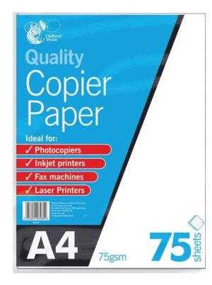 Chiltern Wove 75 Sheet A4 Copier Paper