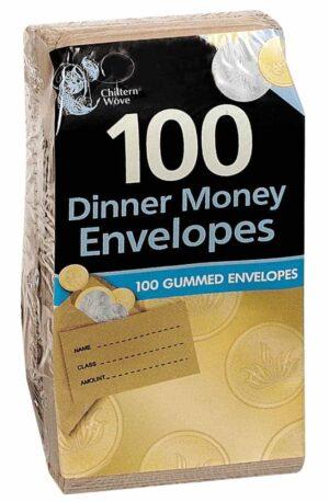 Chiltern Wove 100pk Dinner Money Envelopes