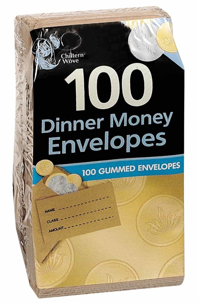 Chiltern Wove 100pk Dinner Money Envelopes
