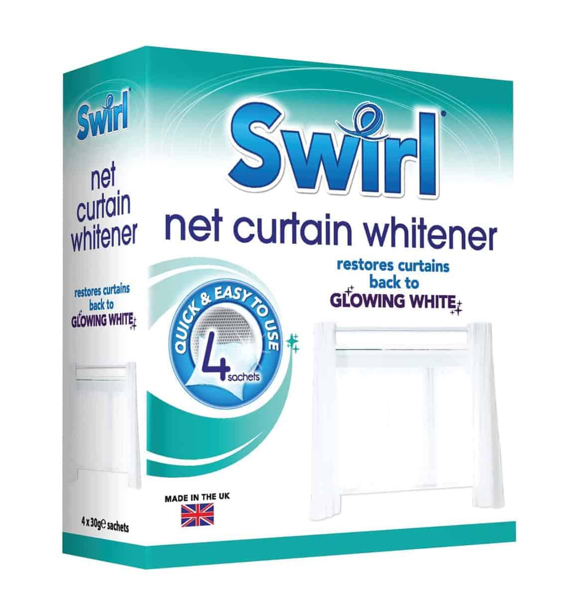 Swirl 4Pk Net Curtain Whitener