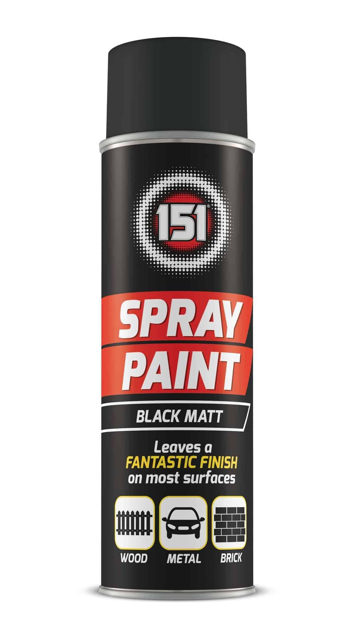 151 Products Matt Black Spray Paint