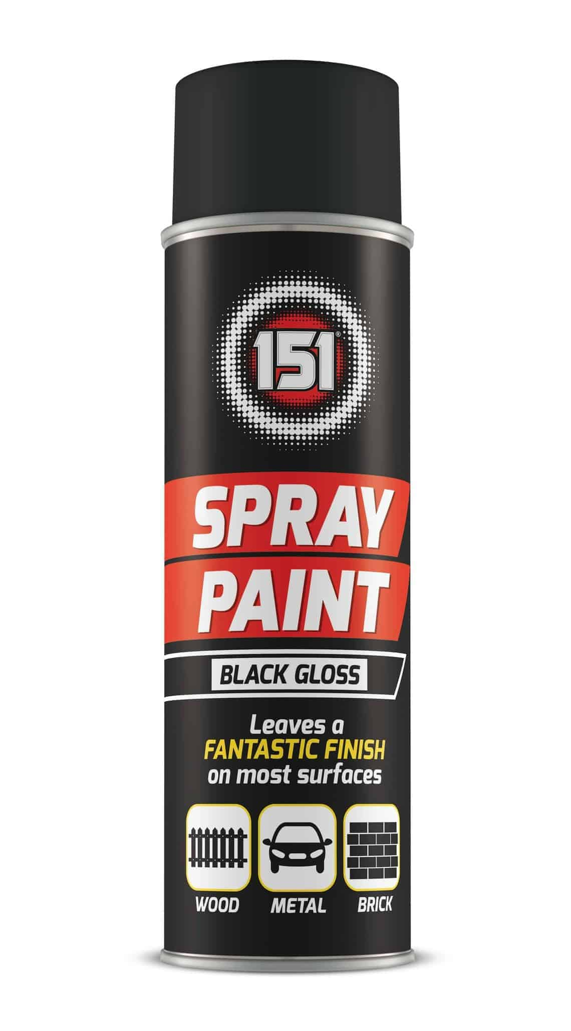 151 Products Black Gloss Spray Paint