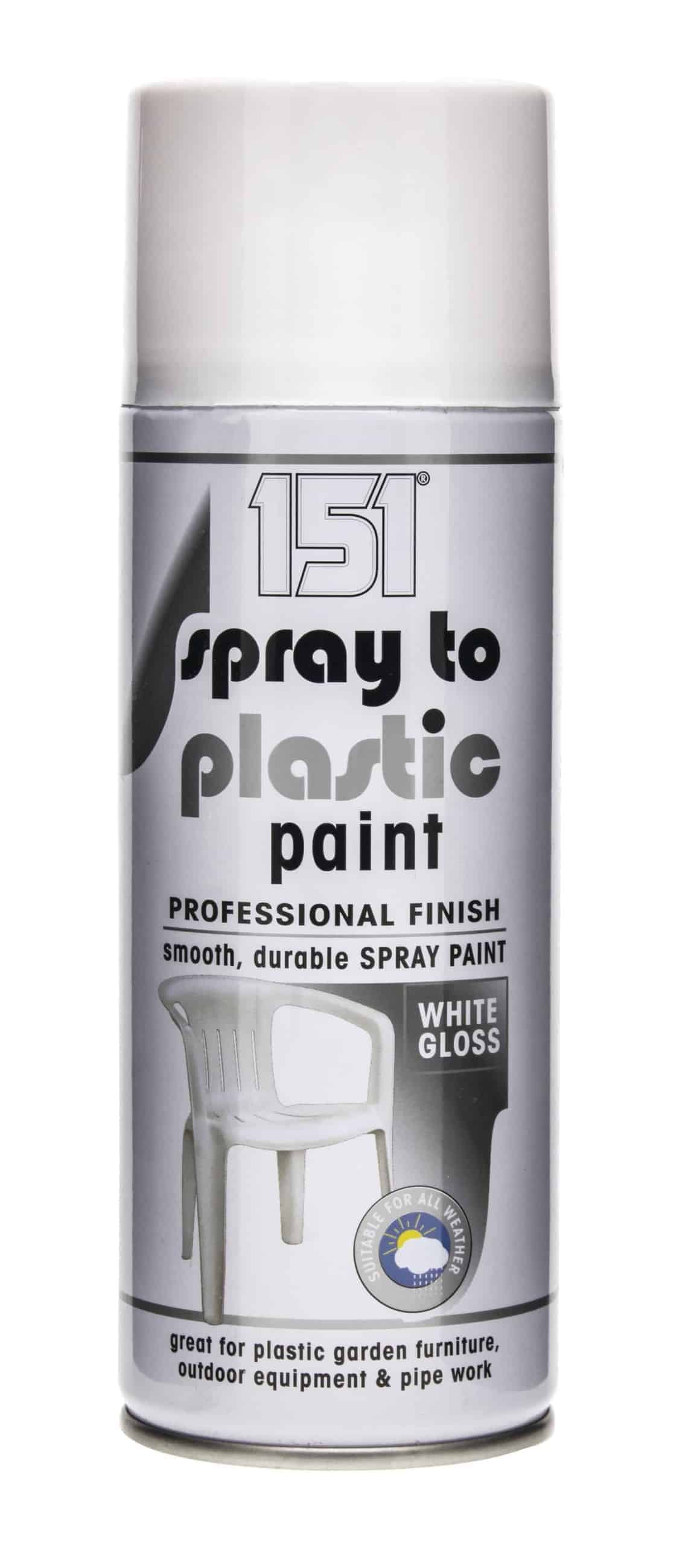 151 Products Spray To Plastic Paint-White Gloss 400Ml