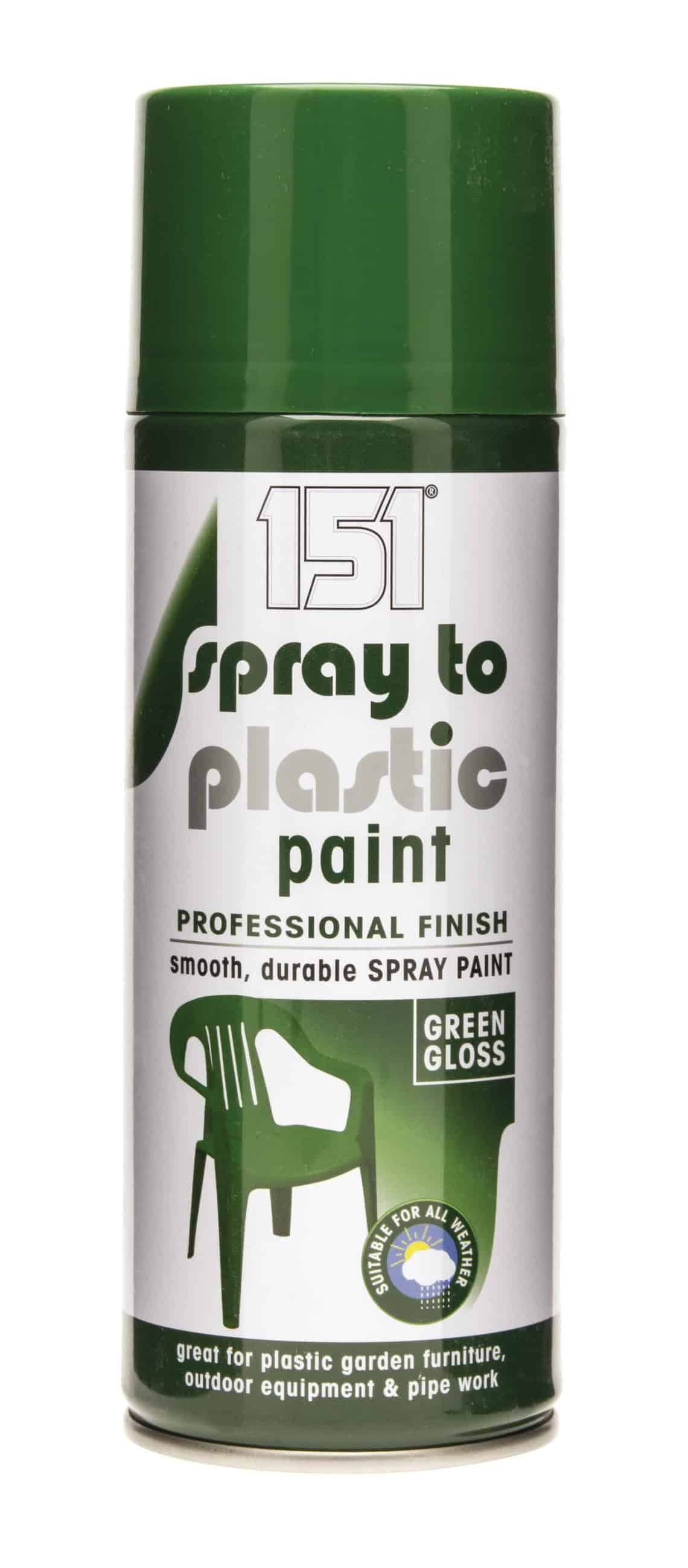 151 Products Spray To Plastic Paint-Green Gloss 400Ml