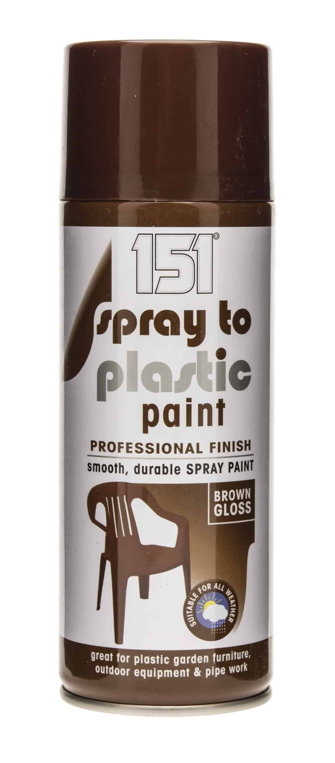151 Products Spray To Plastic Paint-Brown Gloss 400Ml