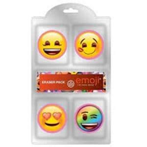 Emoji 4Pk Eraser Set