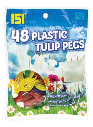 151 Products 48pk Plastic Tulip Pegs