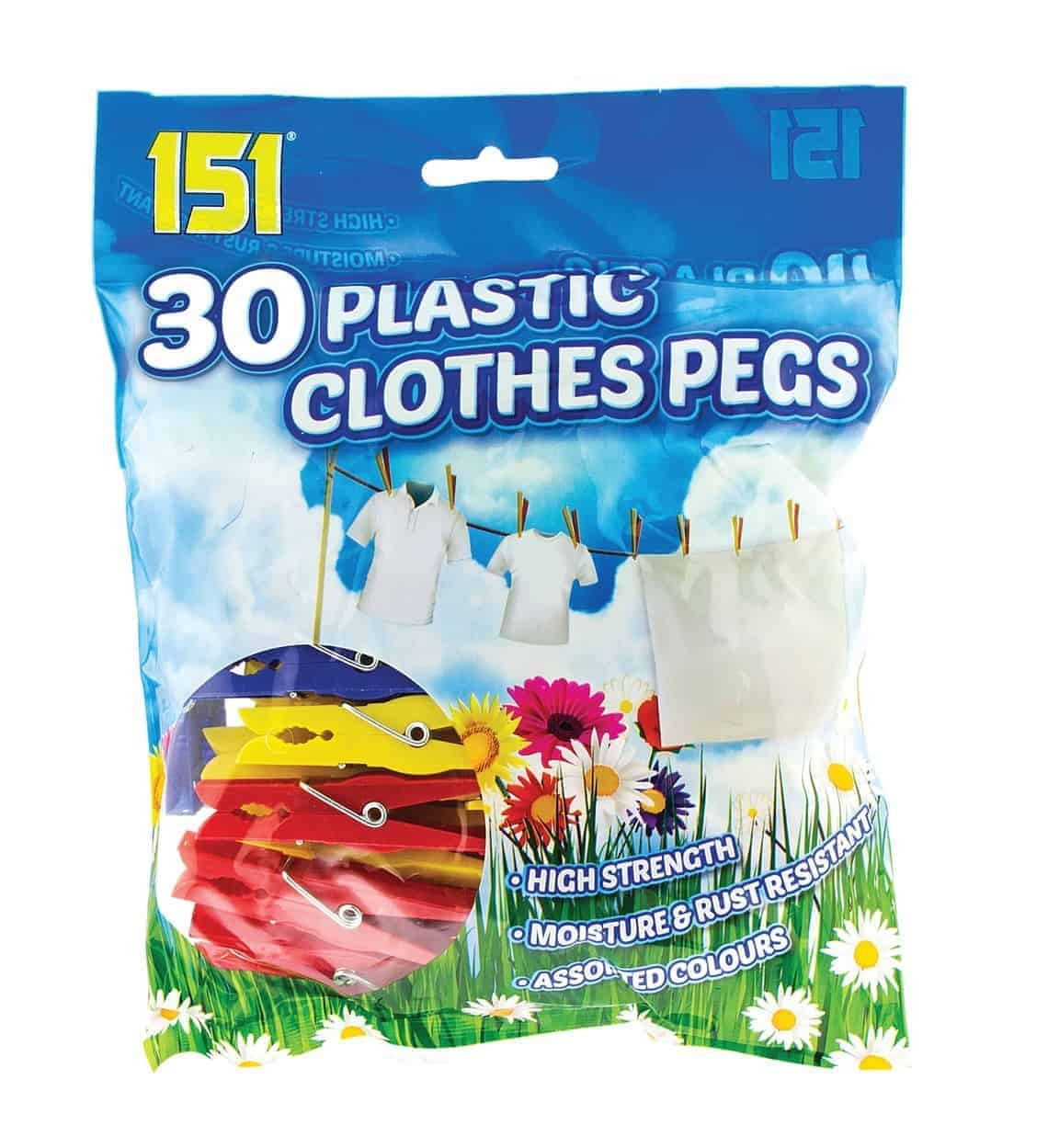151 Products 30pk Plastic Pegs