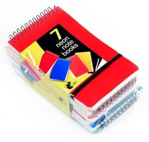 Chiltern Wove 7pk Spiral Notebooks