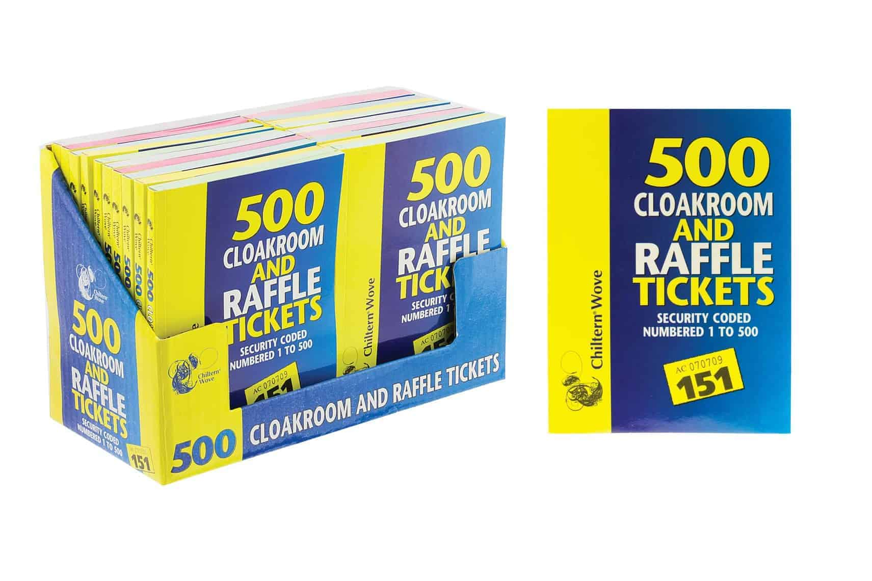 Chiltern Wove 1-500 Cloakroom/Raffle Tickets