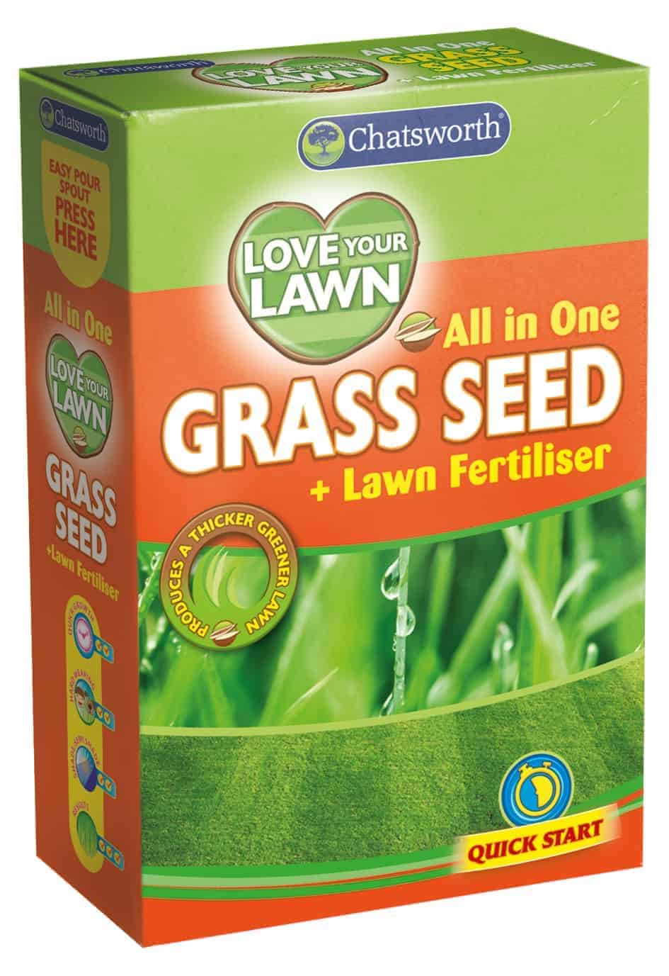 375G Love You Lawn All In One Grass Seed And Fertilizer