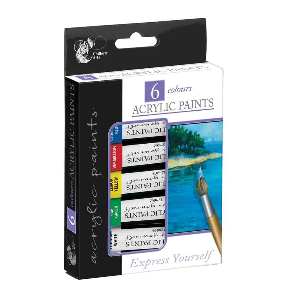 6Pk Acrylic Paints