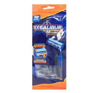 Excalibur 12Pk Twin Blade Disposeable Razors (36 )