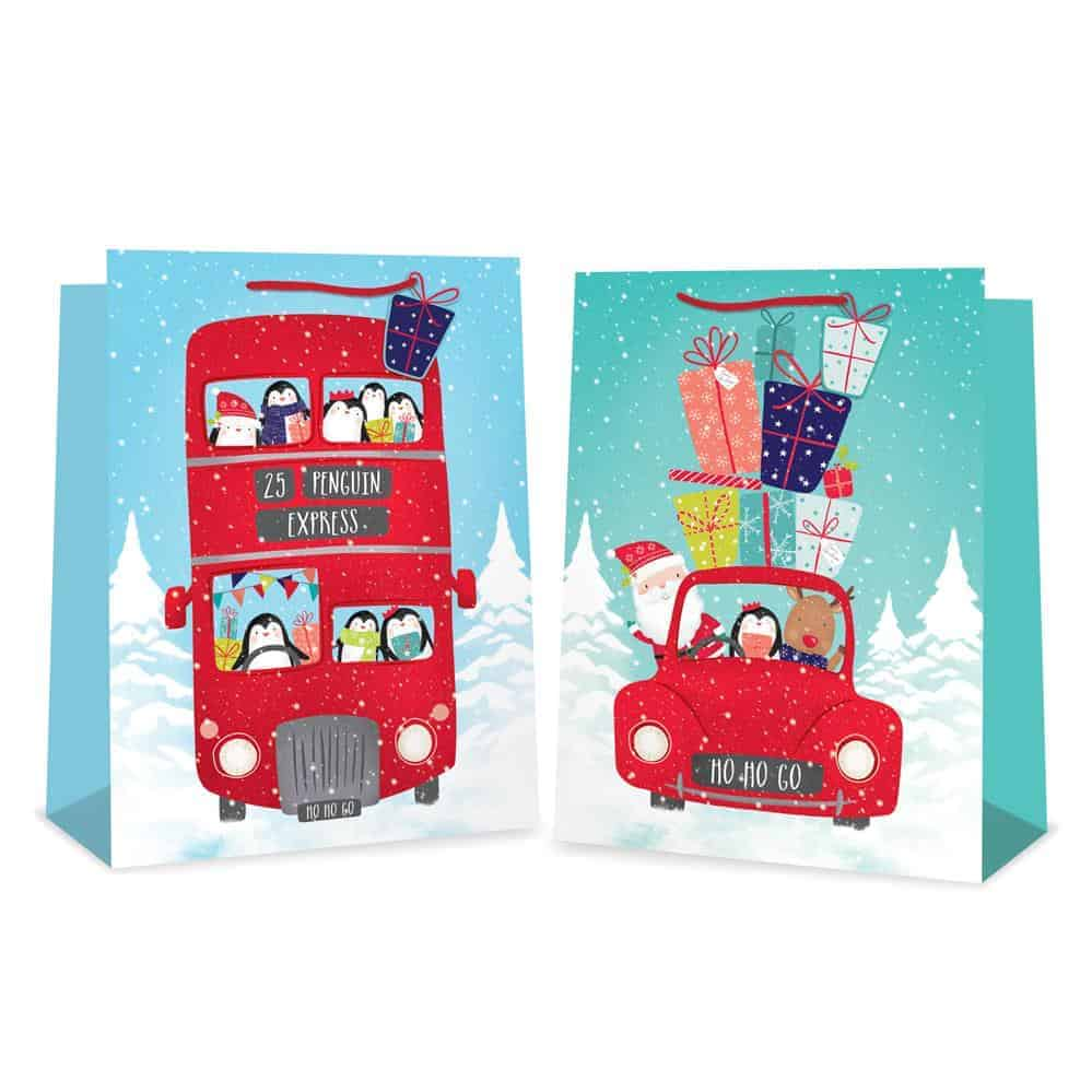 Jumbo Car & Bus Xmas Gift Bag